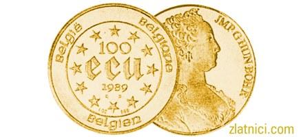 Zlatnik 100 ecu Maria Theresa