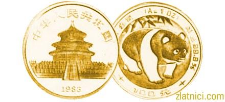 Investicijski zlatnik Kineski panda