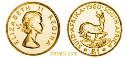 Zlatnik 1 pound Elizabeth II, Južna Afrika