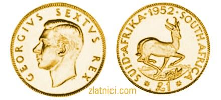 Zlatnik 1 pound Georgivs, Južna Afrika