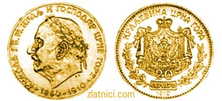 Zlatnik 20 perpera Nikola I, 50. godišnjica vladavine