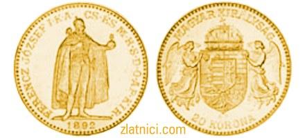 Zlatnik 20 korona Ferencz Jozsef, Ugarska