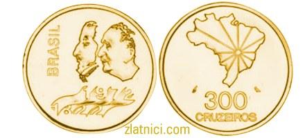 Zlatnik 300 cruzeiros, 150 godina neovisnosti Brazila