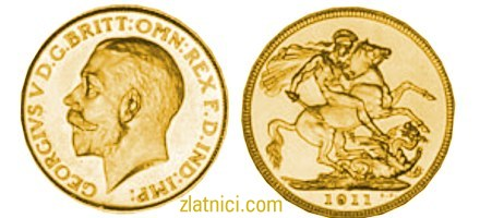 Zlatnik Sovereign Georgivs V, Velika Britanija