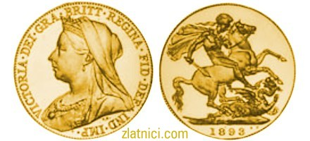 Zlatnik Sovereign Victoria s velom, Velika Britanija