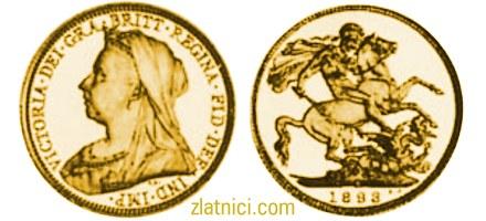 Zlatnik Sovereign Victoria s velom, Australija