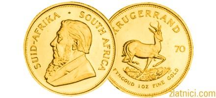 Investicijski zlatnik Krugerrand, Južna Afrika