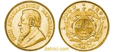 Zlatnik 1 pond, Južna Afrika