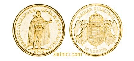 Zlatnik 10 korona Ferencz Jozsef, Ugarska