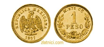 Zlatnik 1 peso Meksiko