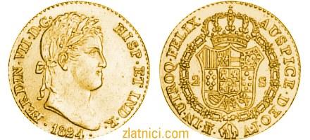 Zlatnik 2 escudos Ferdinand VII