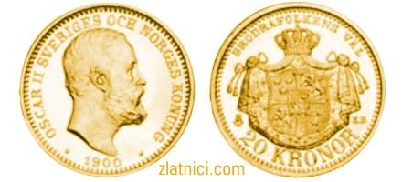 Zlatnik 20 kronor Oscar II, zadnje izdanje
