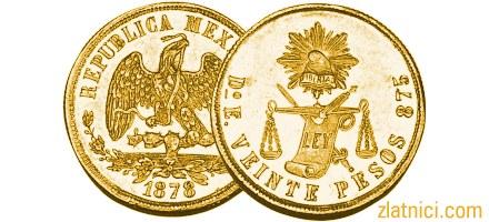 Zlatnik 20 pesos Meksiko