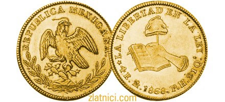 Zlatnik 4 escudos Libertad, Meksiko