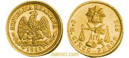 Zlatnik 5 pesos Meksiko
