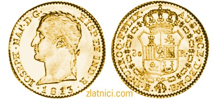 Zlatnik 80 reales Ioseph, Španjolska