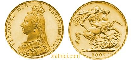 Zlatnik Sovereign Victoria s krunom, Velika Britanija