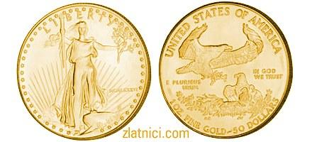 Investicijski zlatnik Zlatni orao, Sjedinjene Države