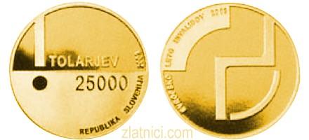 Zlatnik 25000 tolarjev Evropsko leto invalidov, Slovenija