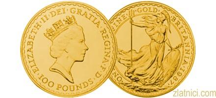 Investicijski zlatnik Britannia, Velika Britanija
