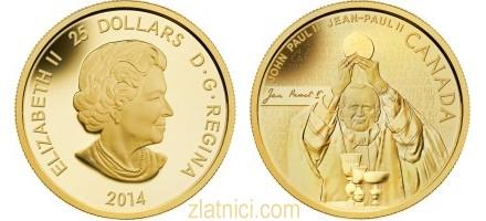 Zlatnik 25 dollars John Paul II, Kanada