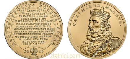 Zlatnik 500 zloty Casimirus Magnus, Poljska