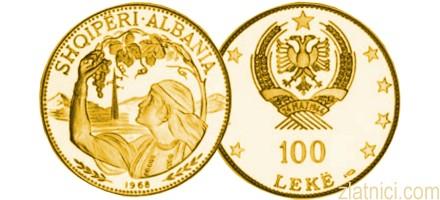 Zlatnik 100 leke, Albanija
