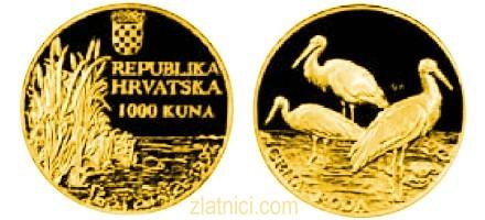 Zlatnik 1000 kuna Crna roda, Hrvatska