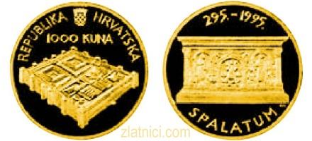 Zlatnik 1000 kuna Spalatum, Hrvatska