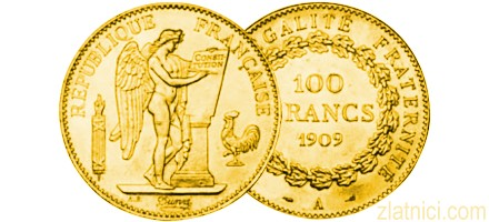 Zlatnik 100 francs Anđeo, Francuska