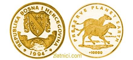 Zlatnik 10000 dinara Preserve Planet Earth