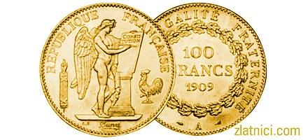 Zlatnik 100 francs Anđeo, Treća Francuska Republika