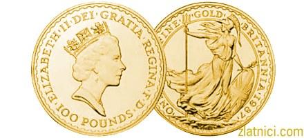 Investicijski zlatnik Britannia, 100 pounds, numizmatika, kovanica