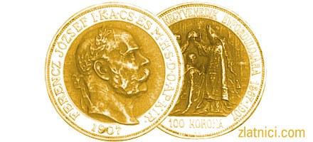 Prigodni zlatnik 100 korona Ferencz Jozsef