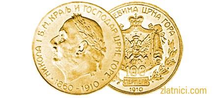 Zlatnik 100 perpera Nikola I, 50. godišnjica vladavine