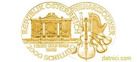 Zlatnik Wiener Philharmoniker, Austrija