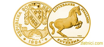 Zlatnik 1 suverena konji, Bosna i Hercegovina