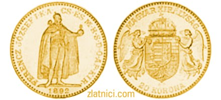 Numizmatkika, zlatnik 20 korona ferencz jozsef, zlatna kovanica