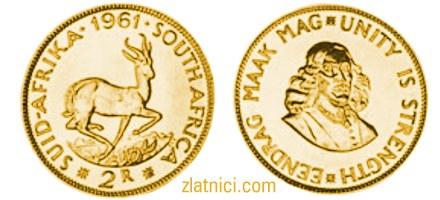 Zlatnik 2 rand, Južna Afrika