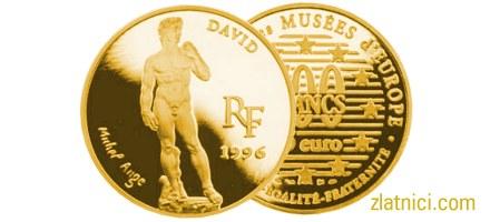Zlatnik 500 francs 75 euro David