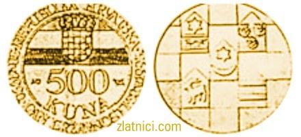 Zlatnik 500 kuna Dan državnosti, Republika Hrvatska