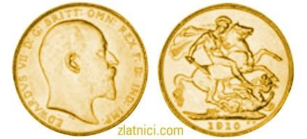 Zlatnik Sovereign Edwardvs VII, Kanada, zlatna kovanica