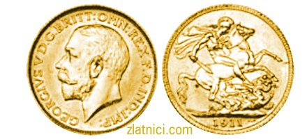 Zlatnik Sovereign Georgivs V, Kanada, zlatna kovanica