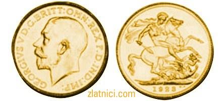 Zlatnik Sovereign Georgivs V, Južna Afrika