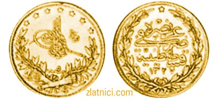 Zlatnik 100 kurus Abdul Aziz, Turska