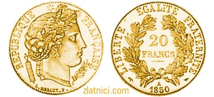 Zlatnik 20 francs Marianne