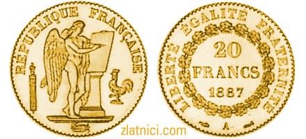 Zlatnik 20 francs Anđeo