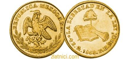 Zlatnik 4 escudos Libertad, Meksiko, zlatna kovanica