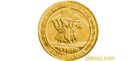 Zlatnik 500 dinara Jajce, SFRJ, Godišnjica AVNOJ-a