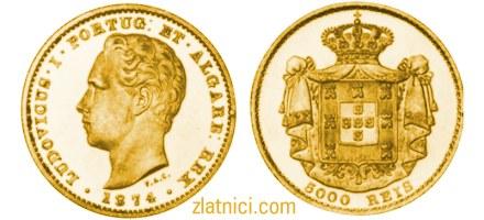 Zlatnik 5000 reis Ludovicus I